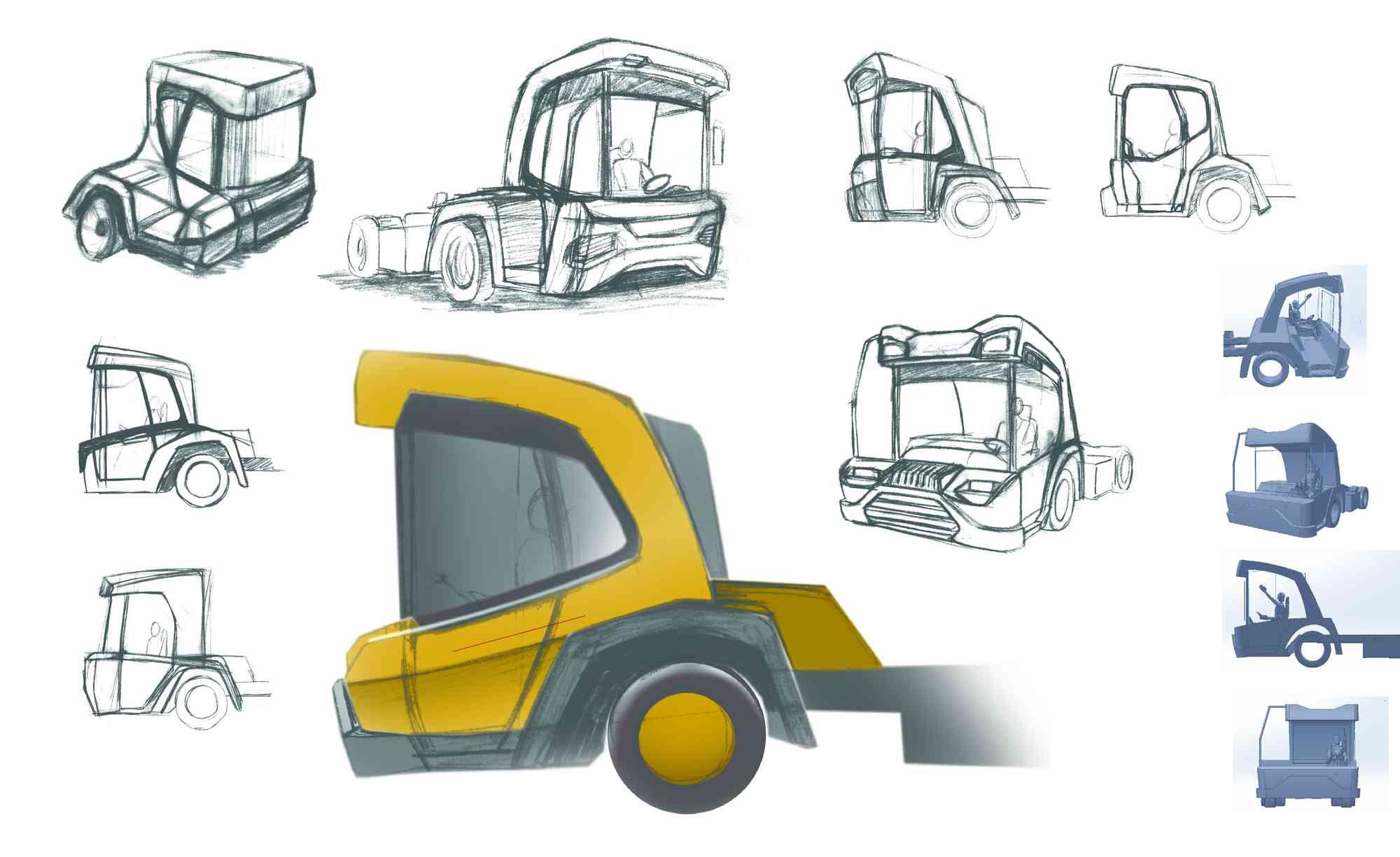 2D styling schetsen