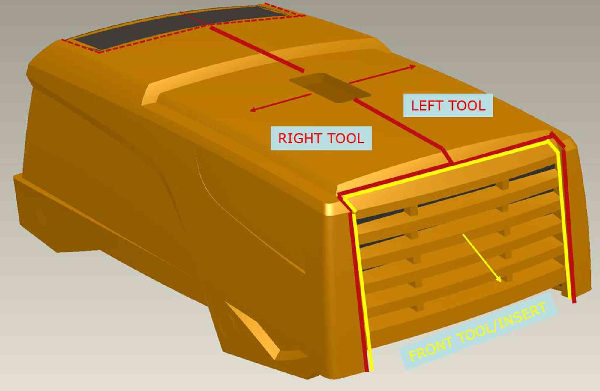 Capotage compresseur mobile