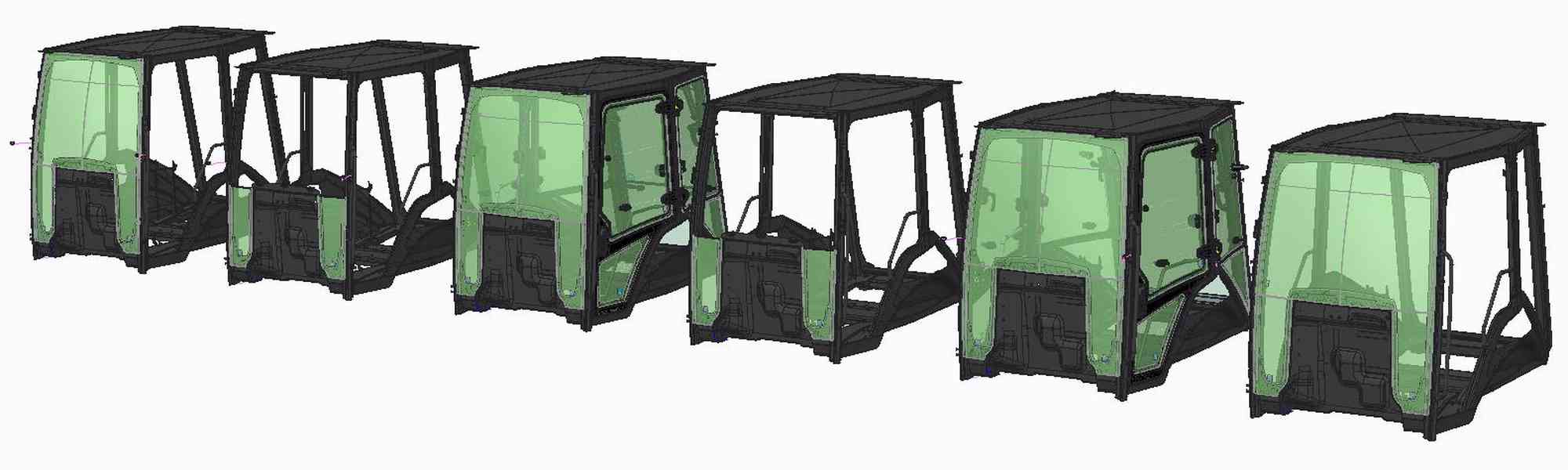 Backhoe loader cab