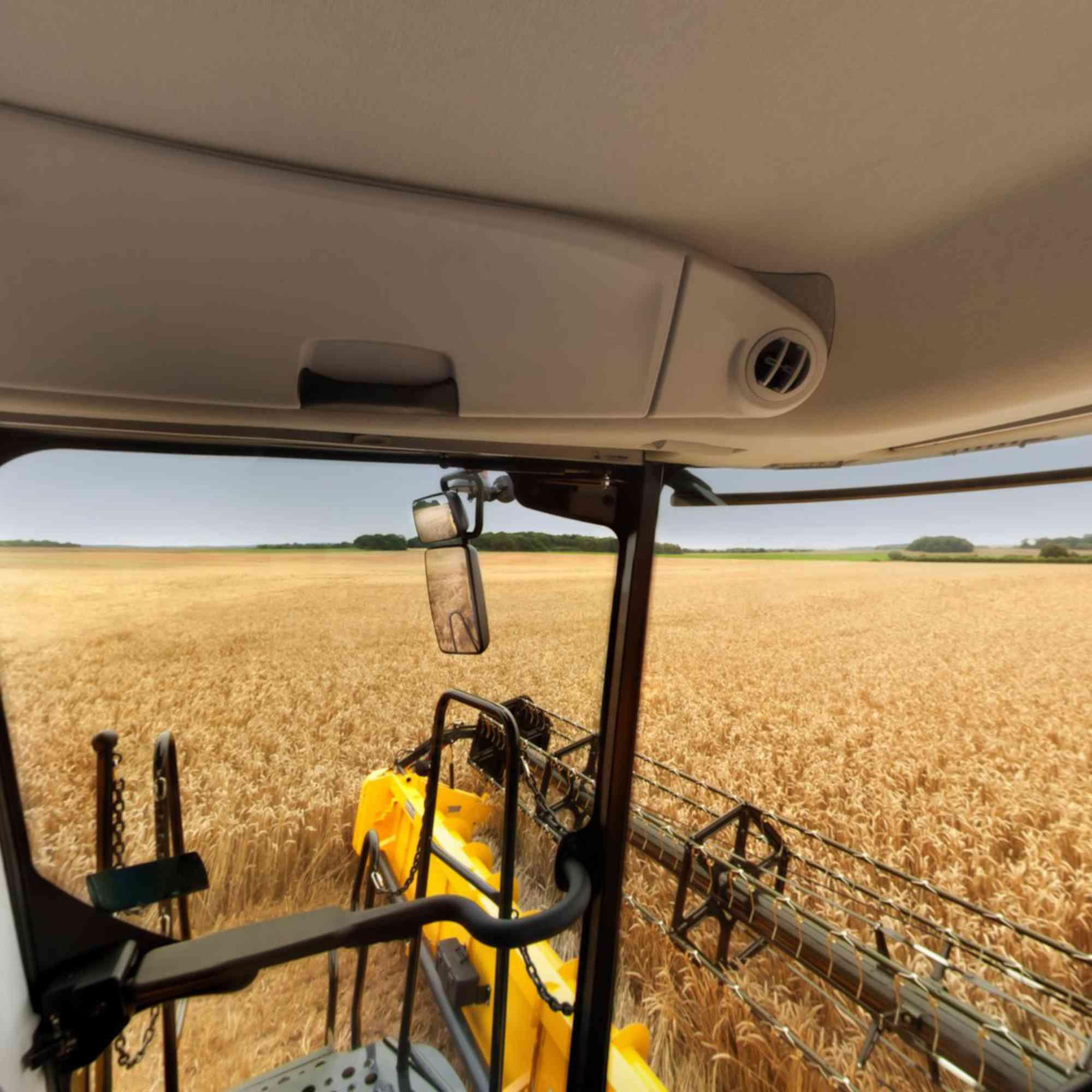 Interior cladding for harvesting machine