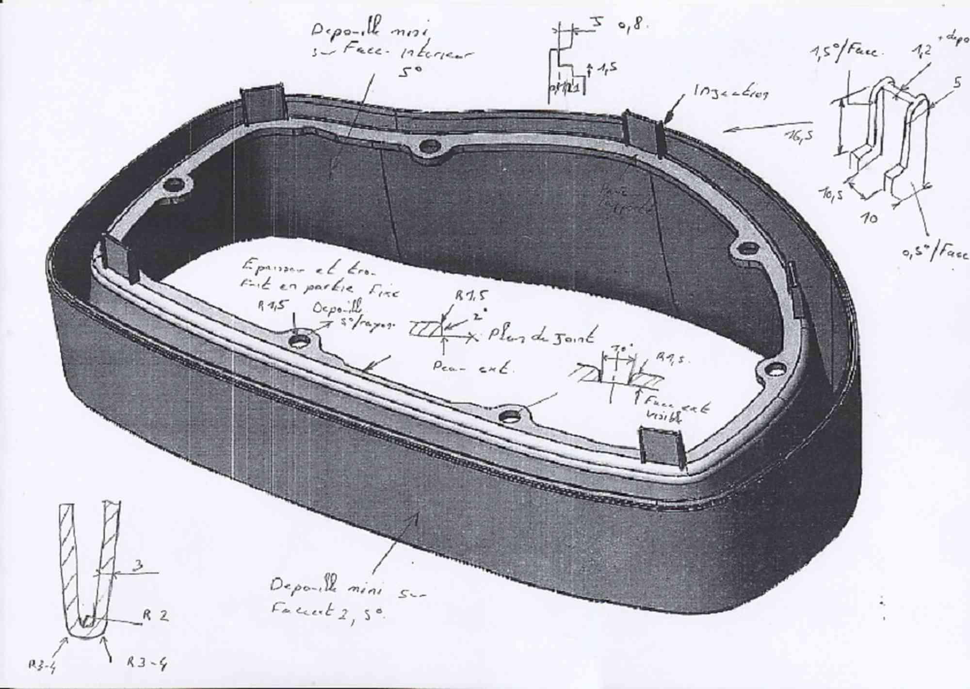 3D ontwikkeling spuitgiet onderdelen instrumentenpaneel