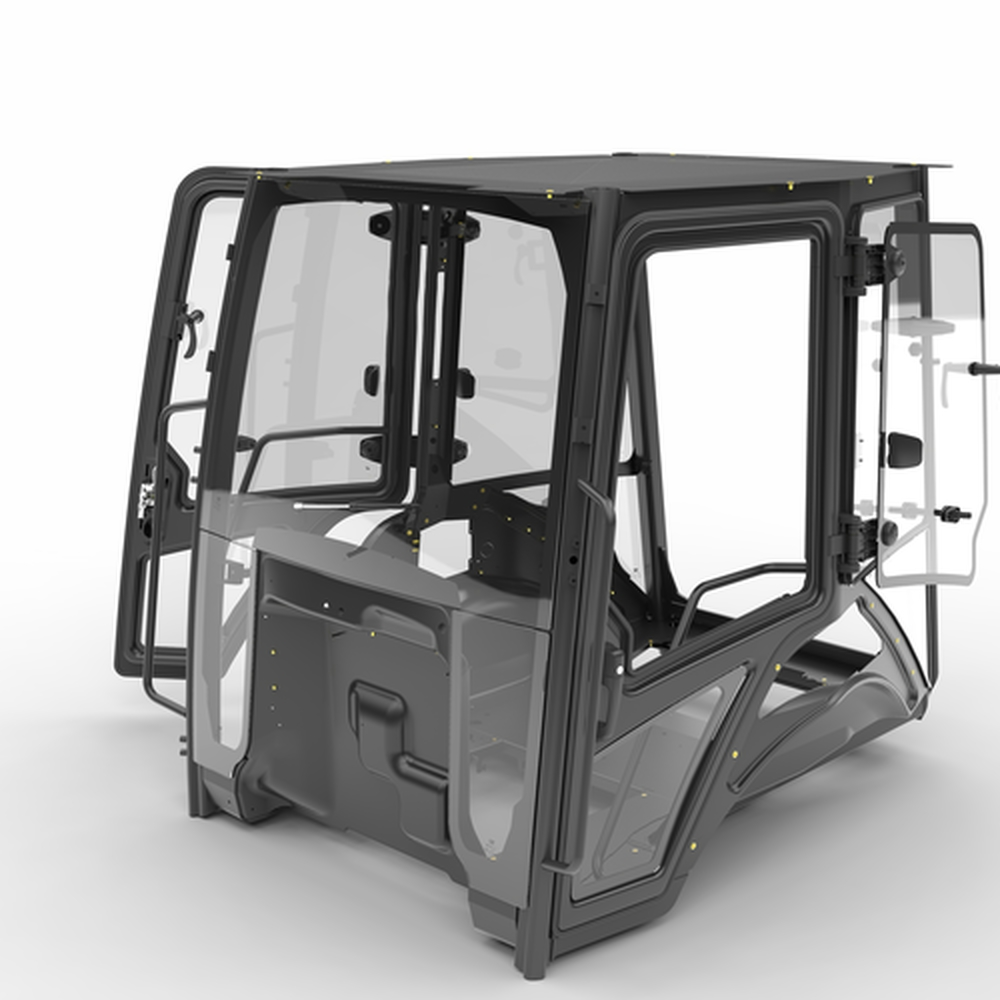 Backhoe loader cab